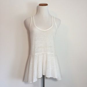 We The Free White Peplum Tank Top